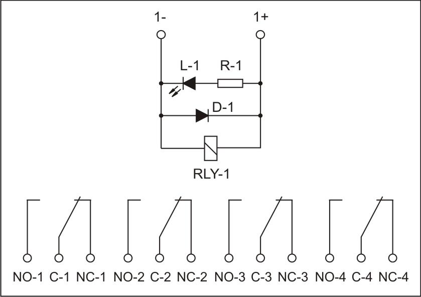 Imre4ssxx24omrelay module 4co 24vdc 4pdt circuit diagram ccuart Images